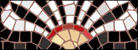 Cornerpiece stencils from our Mosaic stencil range