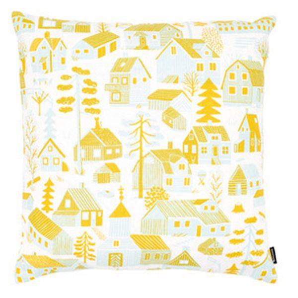 Kauniste's Mökkilä cushion cover, yellow