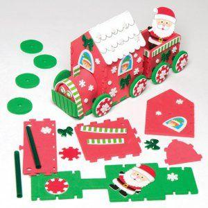 Kit de décoration train du père Noël que les enfants pourront assembler pour Noël – Jouet de loisirs créatifs en mousse à fabriquer par les…