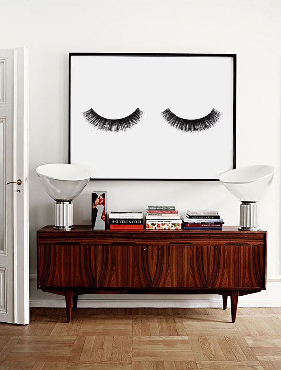 minimalist poster eye lashes fashion print wall decor minimal art glamour fashion wall art fashion poster beauty bedroom decor - Bedroom Art Ideas