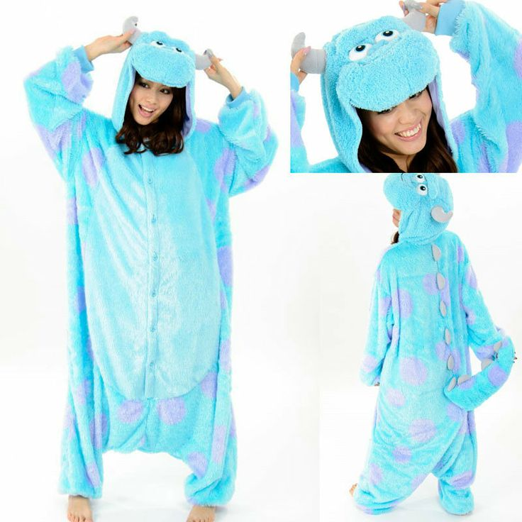 PajamasBuy - Animal Adult unisex Blue Sully Monster Onesies Hoodie kigurumi Pajamas, $22.00 (http://www.pajamasbuy.com/animal-adult-unisex-blue-sully-monster-onesies-hoodie-kigurumi-pajamas/)