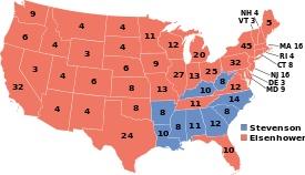 Dwight D. Eisenhower, 1952 Electoral Map