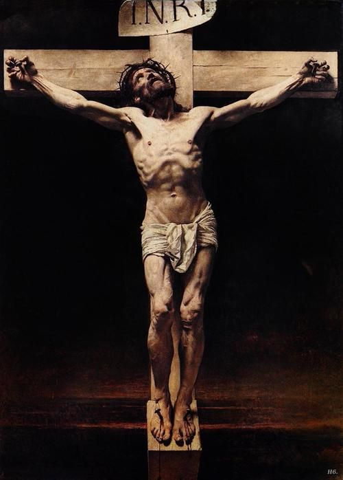 Leon Bonnat. Christ crucifixion. 1880