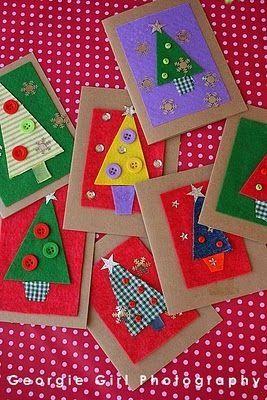 Riidelappidest kaardid jõuludeks