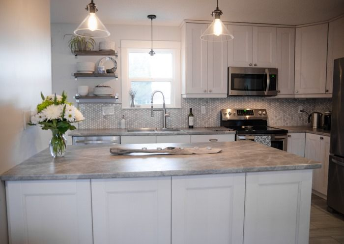 Soapstone Laminate Countertops : Lemon thistle used formica laminate countertop in fx