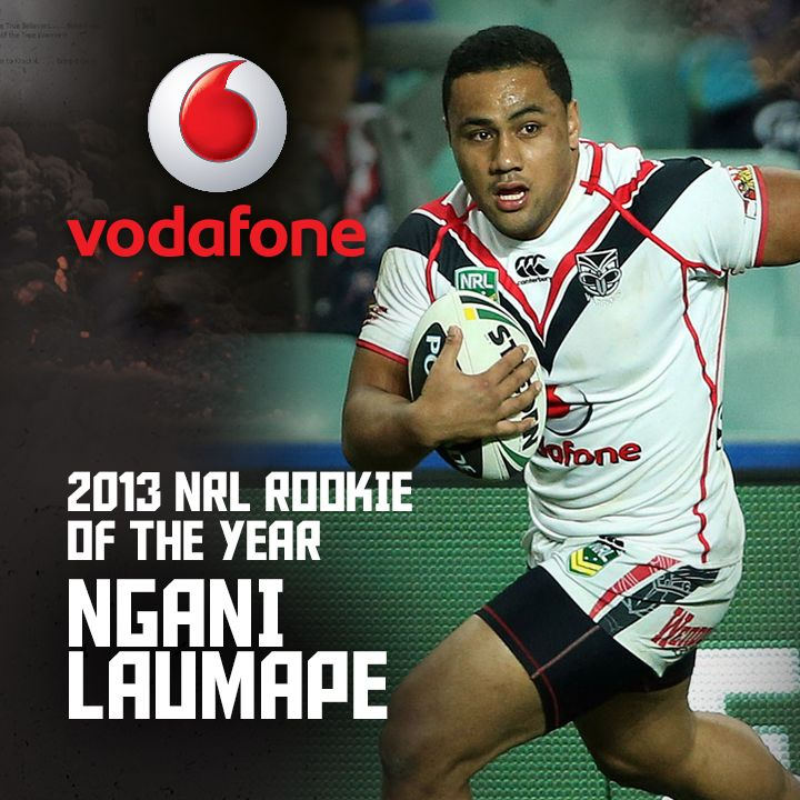 Congratulations to 2013 Vodafone NRL Rookie of the Year Ngani Laumape