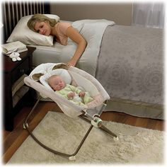 Newborn baby sleeper instead of bassinet ((These things are sooo handy! Have one @ my house and Bre uses one all the time for Little Man Carter.. It's nice that it lets them sit up a little bit.))