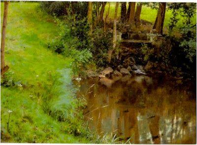 Συμεών Σαββίδης (1859-1927), Κατοπτρισμός δένδρων σε έλος. Εθνική Πινακοθήκη.