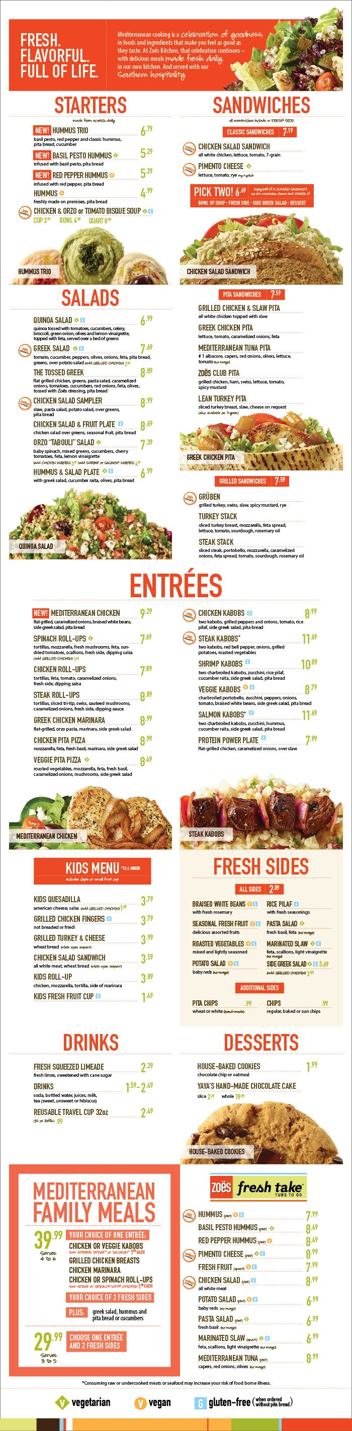 Fort worth alliance great mediterranean and healthy food for Zoes kitchen charlotte nc