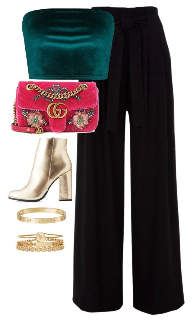 """Untitled #4611"" by magsmccray on Polyvore featuring Gucci, Bamboo, Cartier and Treasure & Bond"
