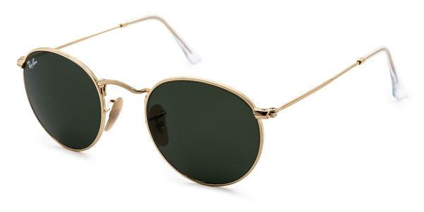 RAY BAN RB3447 ROUND METAL 001 GOLD