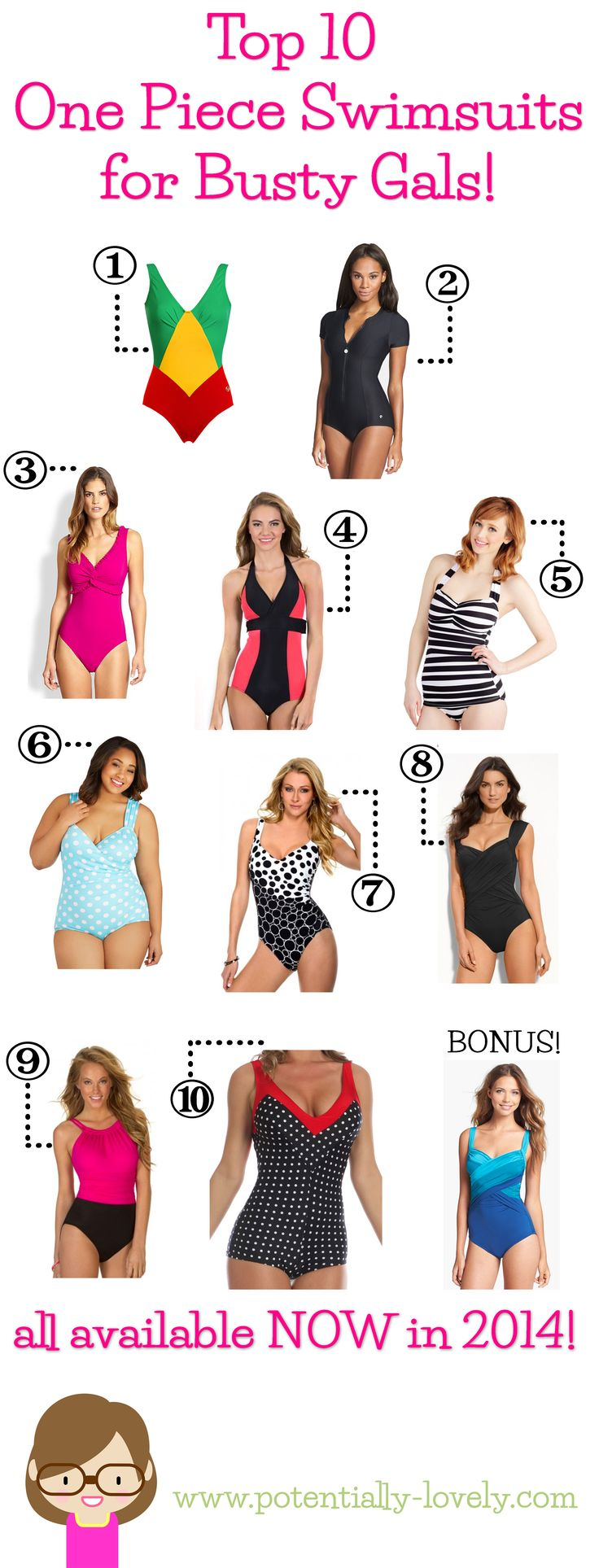 Top 10 Bathing Suits for Busty Ladies  |   http://potentially-lovely.com