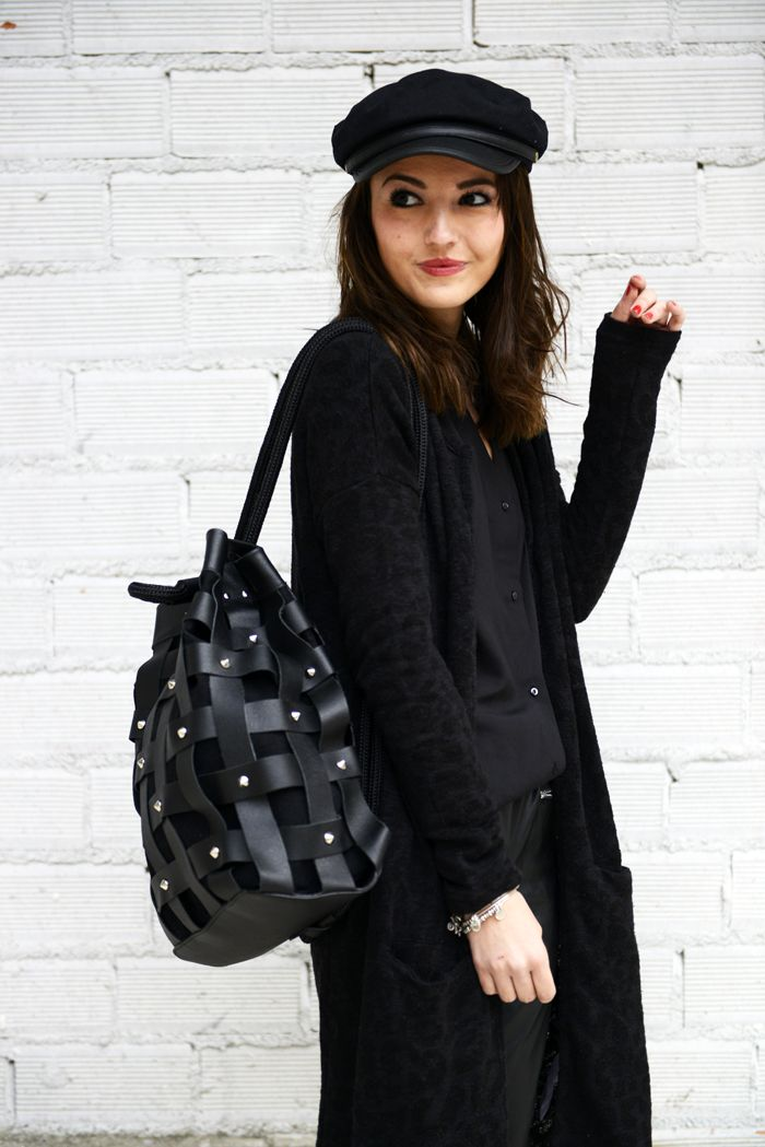 The blogger Lovely Pepa Wearing a SALAR Milano Backpack available soon at WWW.FINAEST.COM | #salar #salarmilano #finaest #backpack #lovelypepa #fashion #moda #fashionblogger #black #stylist #moda #mode