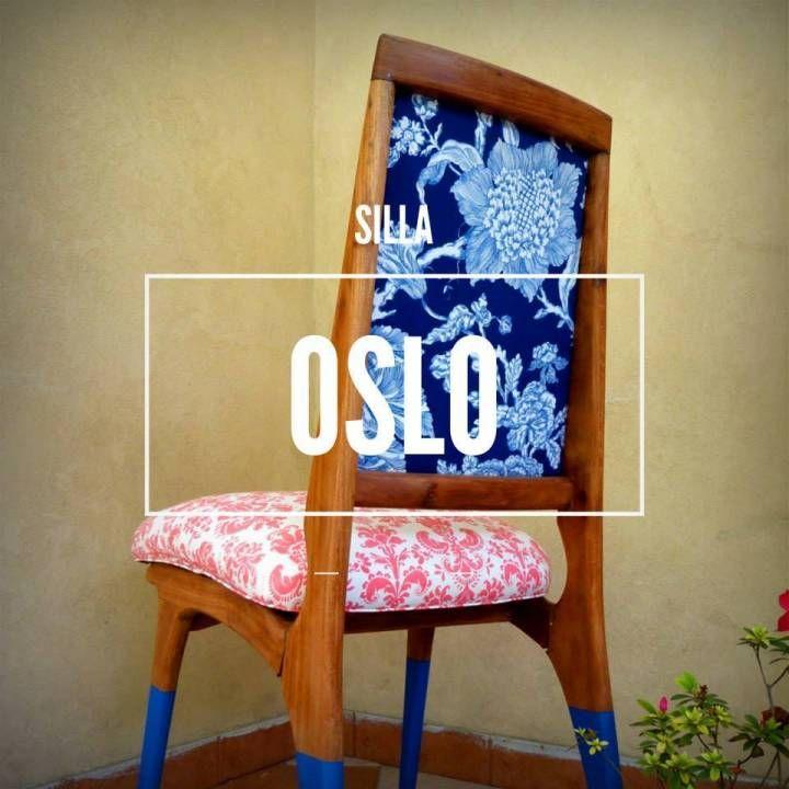 Esta hermosa silla estaba arrumbada en un taller, la lijamos, elejimos una linda combinación de telas que encontramos por ahí, le agreamos un toque de color a sus patas y la barnizamos. Este es uno de los tantos ejemplos de restauración que hacemos en REDIMEI.  Si tenés una silla vieja que querés seguir usando, contactate con nosotros y te realizamos una cotización.