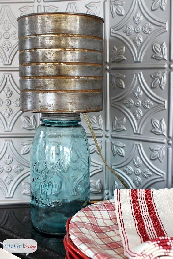 Mason Jar Lamp With Faux Zinc Shade Jar Lamp Mason Jar Lamp Mason Jars