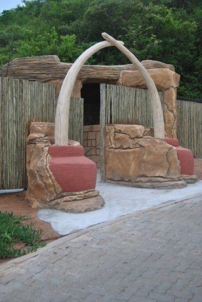 Our amazing Boma entrance.