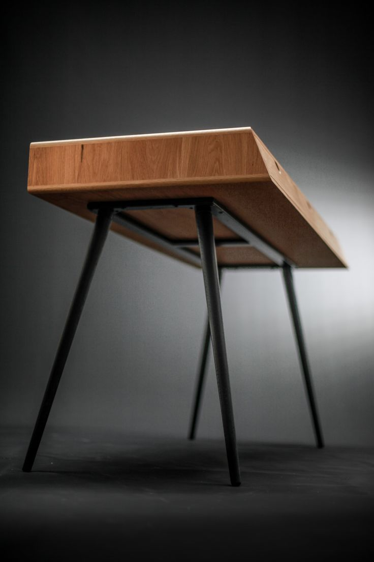 Desk in oak wood Bureau dressing table office by Habitables