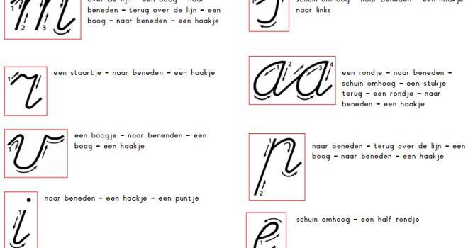 Letters schrijven - Juf Inger
