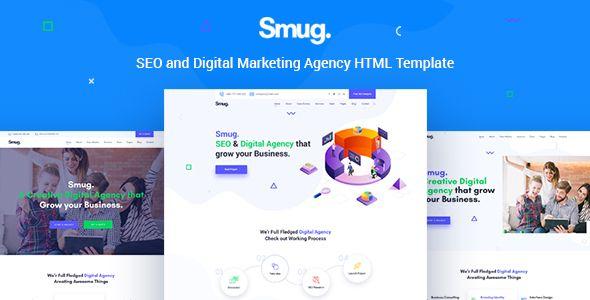 Smug - SEO and Digital Marketing Agency Template | Best Premium HTML