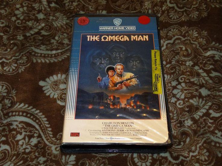 The Omega Man (VHS, 1986) HTF OOP 1st Warner Clamshell/Cult '70s Charlton Heston