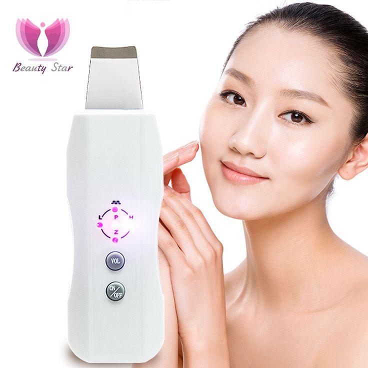 Beauty star kulit wajah cleaner anion ultrasonik scrubber kulit ultrasonik usg wajah mengupas kulit massager wajah scrubber