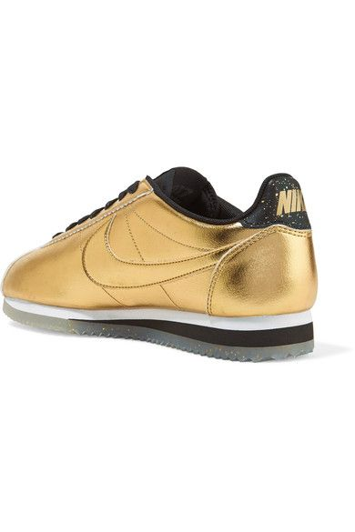 Nike - Classic Cortez Metallic Leather Sneakers - Gold - US