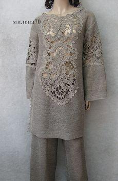 Вязание + ткань Замечательные модели от TALITA Соловьёва | Варварушка-Рукодельница