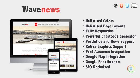WaveNews – Responsive Multipurpose Creative Theme - http://www.freescriptz.co.uk/wavenews-responsive-multipurpose-creative-theme/ #Creative, #MultiPurpose, #Responsive, #Theme, #WaveNews
