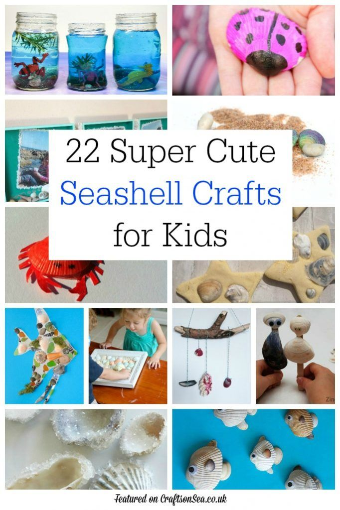 These gorgeous seashell crafts for kids are perfect for treasures brought home from the beach! Fun summer crafts for kids.