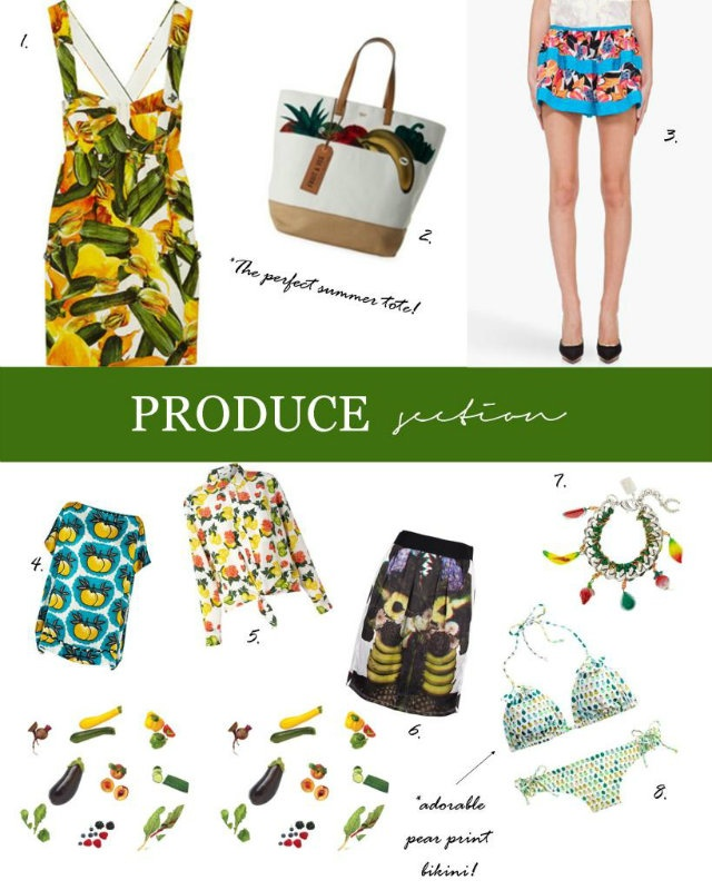 Produce Section: Style, Robinson, Produce