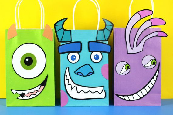 Monster's Inc Bolsa de Regalo Descarga por SimplyMadewithSam