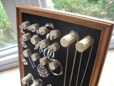 this site has many ideas to use wine corks for ....wine cork projects--wine cork jewelry organizer from crafts for all seasons