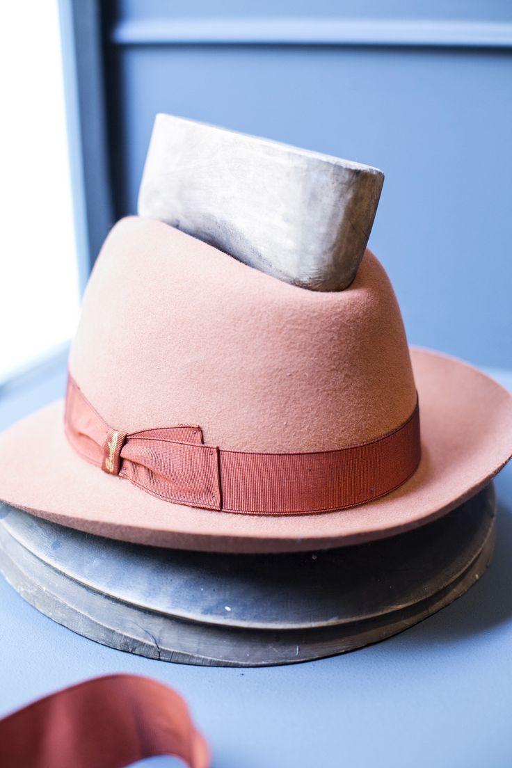 #Borsalino felt hat - close up