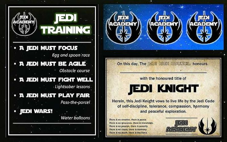 21 best partynstuff images on pinterest star wars for Jedi certificate template free
