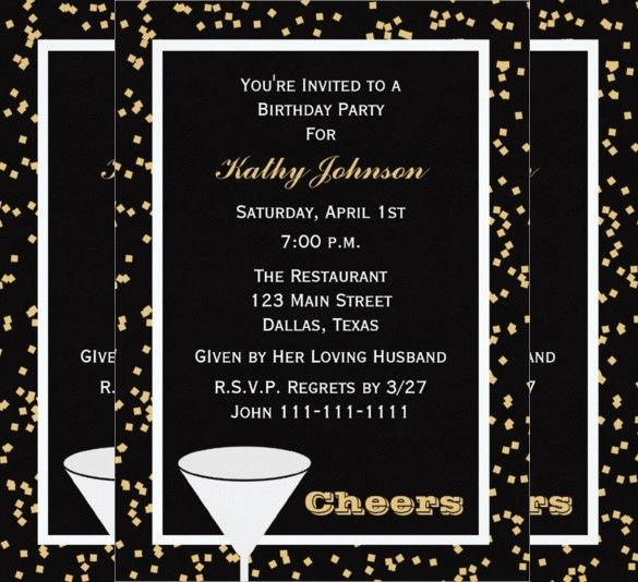 Birthday Invitation Template For Adults Free Sample Vintage Birthday Invitations For Adults Templates