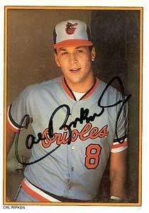 Cal Ripken, Jr. Autograph on a 1987 Topps (#37)