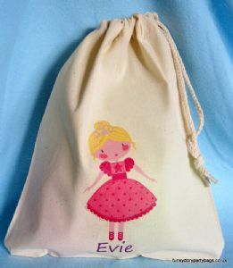 Personalised Cotton Drawstring Bag - Princess Tara | Princess ...