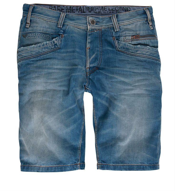 PME Legend denim short / korte broek, model Heard Bare Metal Shorts. Deze short heeft een curved leg, low frontrise en normal backrise - Heard Bare Metal - NummerZestien.eu