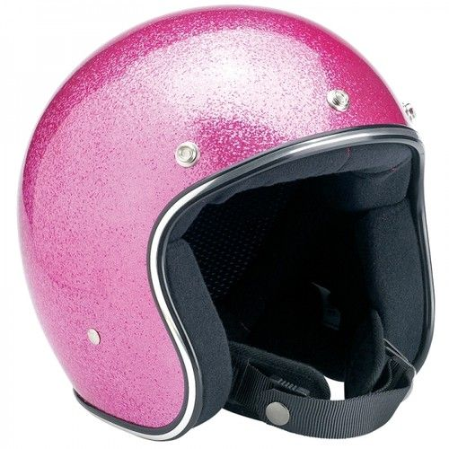 Biltwell Inc Bubble Gum Pink Megaflake Novelty Motorcycle Helmet Bobber Harley | eBay