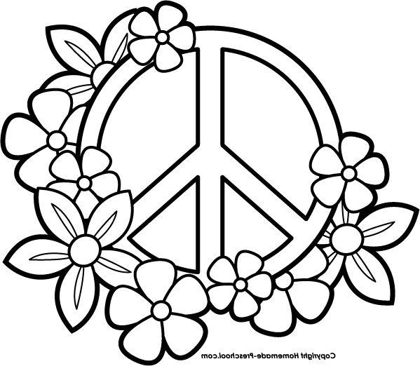 Peace Coloring Pages Cara Menggambar Pentakel Gambar