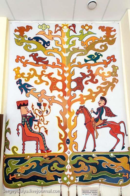 Copy of carpet / On the tour at the National Museum of Altai
