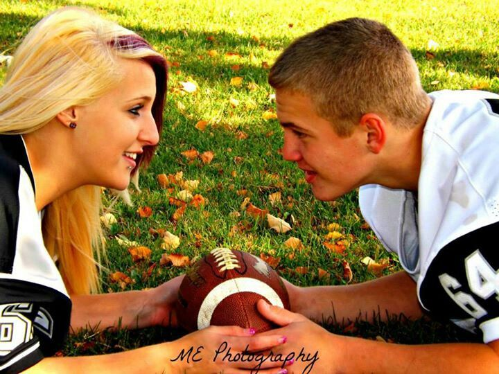 Couples session #fall #football #ME Photography