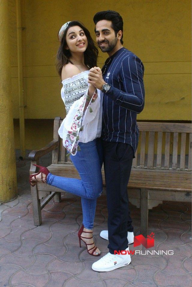 Parineeti Chopra and Ayushmann Khurrana snapped promoting 'Meri Pyaari Bindu'
