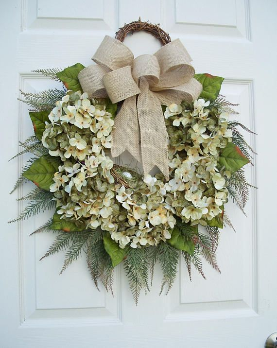 FallHydrangea WreathNatural EleganceWinter