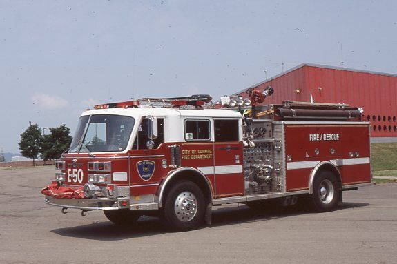 Corning NY E50 1991 American LaFrance Century 2000 Pumper - Fire Apparatus Slide
