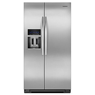 26 4 Cu Ft Side By Side Refrigerator Stainless Steel