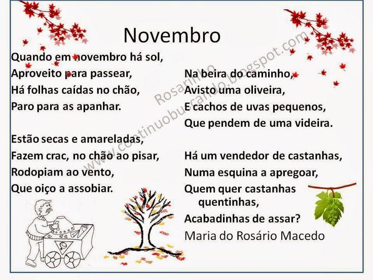 Continuo buscando...: Novembro, poesia