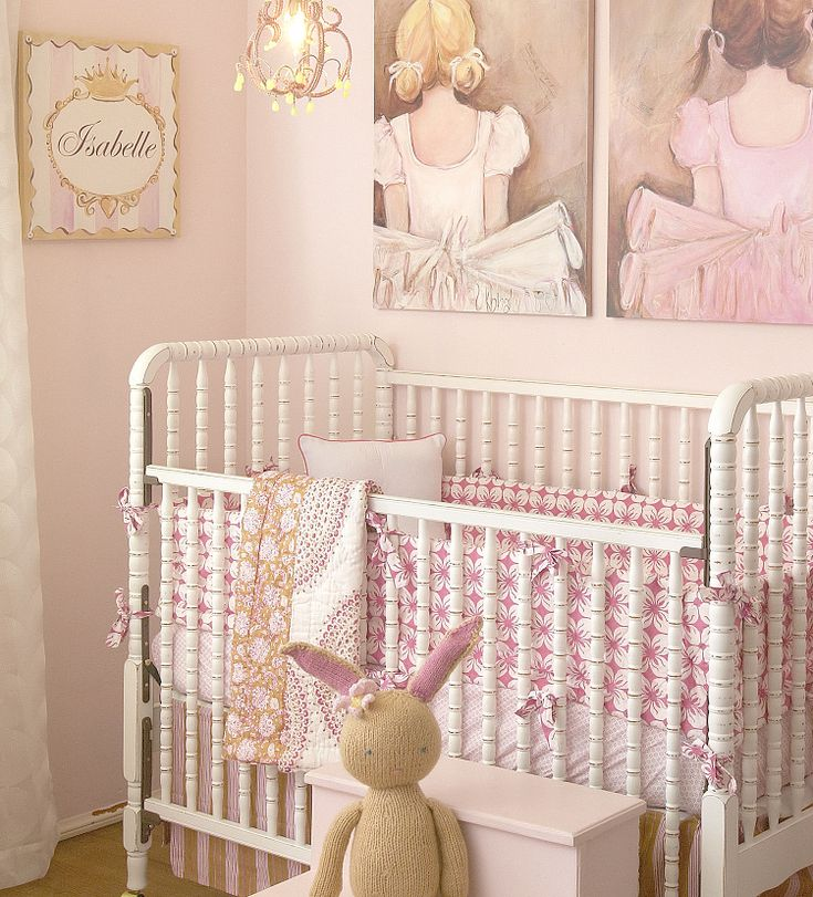 Project Nursery - like the crib with adjustable front