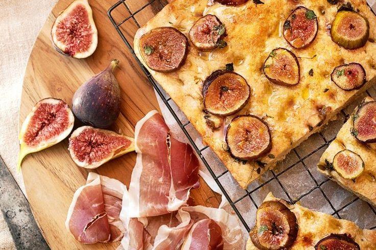 Silvia Colloca's twist on schiacciata con l'uva – that classic Tuscan grape focaccia – using figs in season.