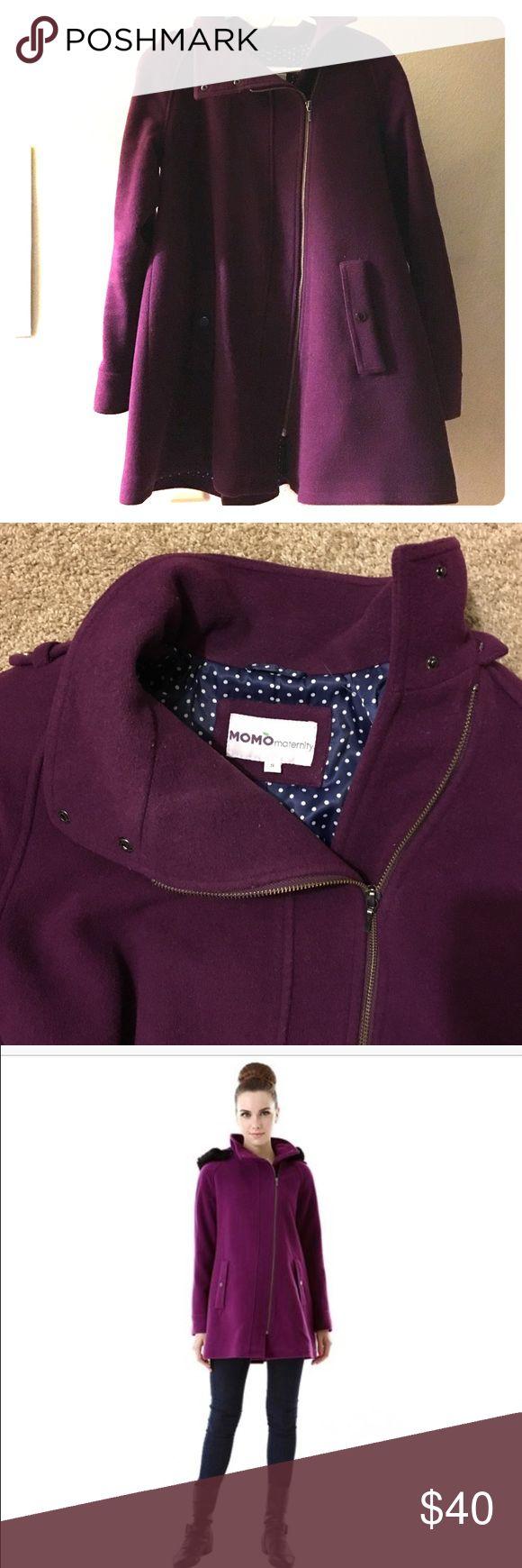 Spotted while shopping on Poshmark: Maternity wool coat! #poshmark #fashion #shopping #style #Momo Maternity #Jackets & Blazers